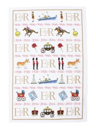 Queens 90th Birthday Tea Towel, £10.00, NationalGallery.co.uk