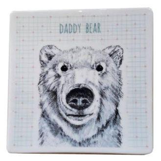 Daddy bear coaster